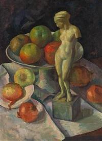stillleben mit äpfeln by josef reichardt