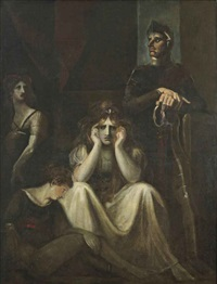 lady constance, arthur and the earl of salisbury (from shakespeare, king john, iii, i) by henry fuseli