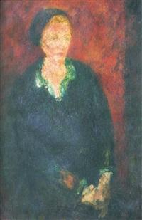 femme au chemisier vert by eugène ebiche