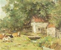 a barnyard corner by horatio walker