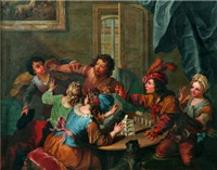 la partie de cartes by jacques-françois courtin