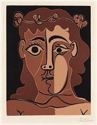 jeune homme couronné de feuillage (boy with a crown of leaves) by pablo picasso