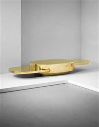 ellisse adjustable low table, from the plurimi series by gabriella crespi