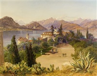 northern italy lakescape (lago maggiore?) by franz reinhold