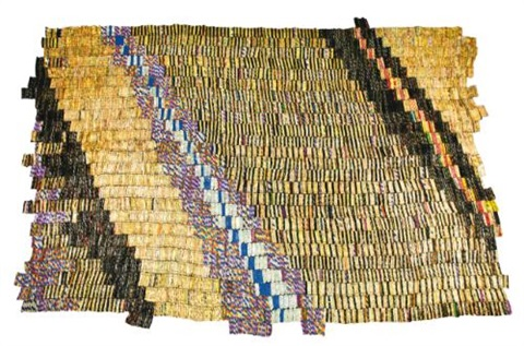 zebra crossing 2 by el anatsui
