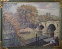 le pont marie, paris by émile bernard