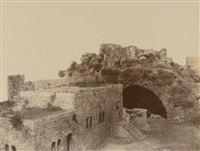 kalaat-el-markab (margat), cour intérieure et divan du gouverneur turc by louis de clercq