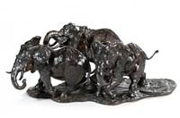 troupeau d'elephants by josé-maria david