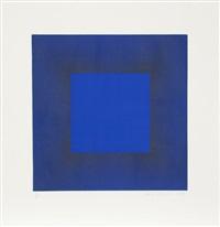 midnight suite (blue with black) by richard anuszkiewicz