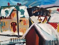 winter village by ladislav karousek