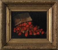 still life of strawberries by joseph decker