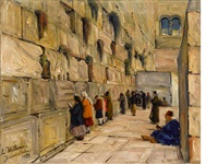 at the western wall by ludwig blum