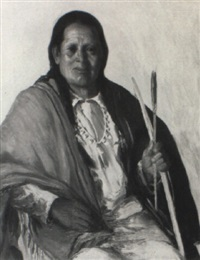 portrait of an indian chief by arthur j. hammond
