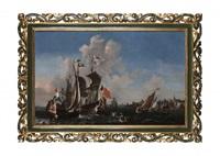 la flotte hollandaise à l'embouchure de l'escaut, près de vlissingen by pieter coopse