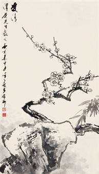 双清图 立轴 水墨纸本 by xu zihe