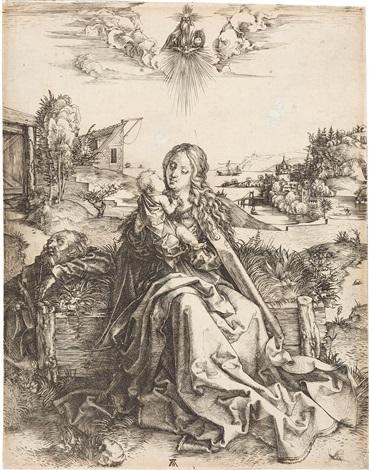 die heilige familie mit der libelle heuschrecke by albrecht dürer