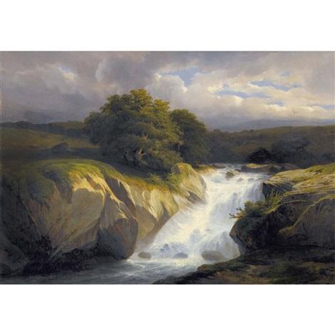 gewitterlandschaft mit wildbach by alexandre calame