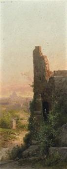 roma, ruderi e san pietro by guido agostini