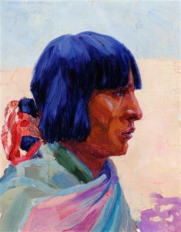 zuni woman by henry balink