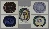 images of ceramic work (set of 5) by pablo picasso