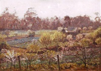 market garden ryde road pymble by perceval charles (percy) lindsay