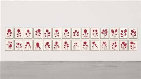 les fleurs suite of 28 by louise bourgeois