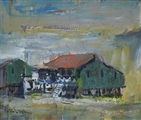 fishing village, kilembi by sidney goldblatt