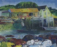 criehaven wharf by george wesley bellows