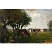 cattle grazing by horatio walker