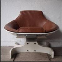 rare fauteuil, modèle sella 1001 by joe colombo