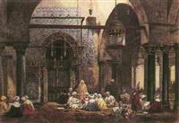lecture du coran dans une mosqué au caire by axel herman haig