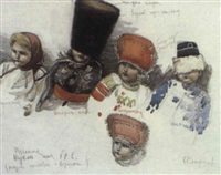 etude de poupées anciennes by sergei smirnov