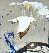 seagull over lavender bay by brett whiteley