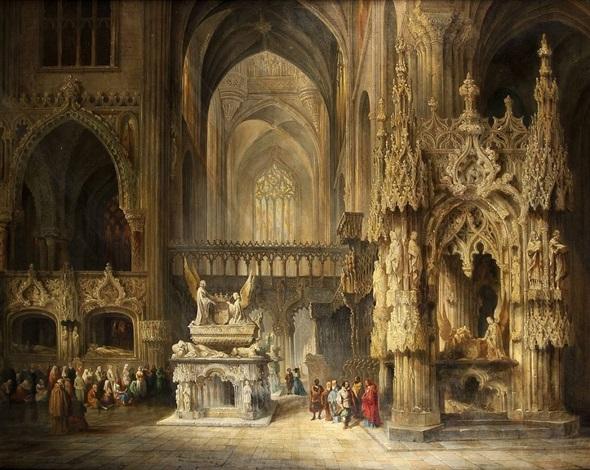 in der kathedrale by genaro perez villaamil