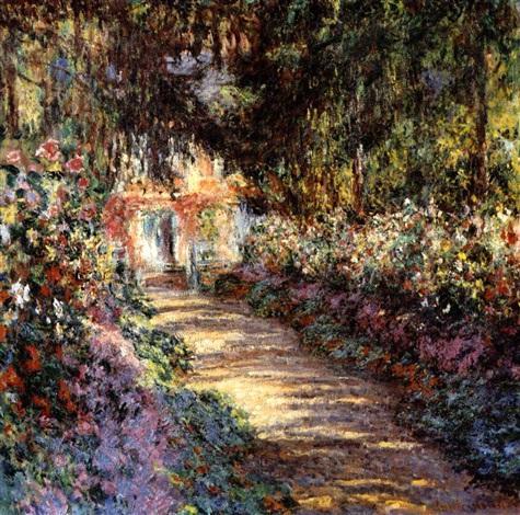Le jardin fleuri by Claude Monet on artnet