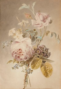 bouquet de fleurs avec roses by gérard van spaendonck