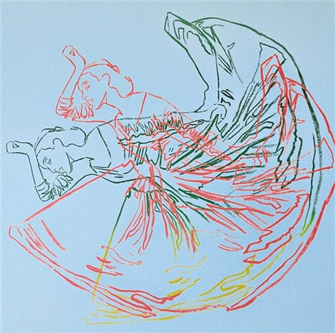 martha graham, letter to the world (the kick) by andy warhol