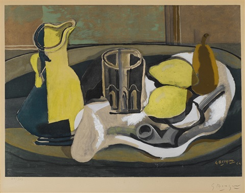 nature morte aux citrons by georges braque