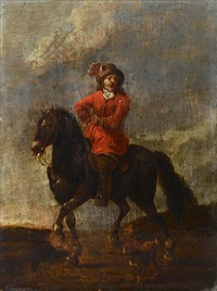 a gentleman on horseback by lambert de hondt