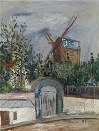 le moulin de la galette à montmartre by maurice utrillo