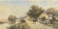 village scene by frank f. english