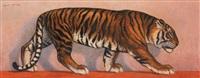 tigre marchant by lauron du quesnel