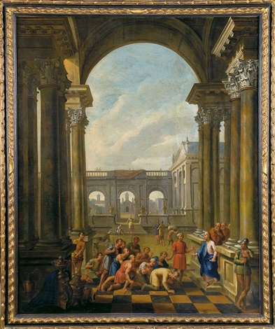 personajes con arquitecturas clásicas by giovanni paolo panini