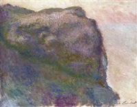 sur la falaise, au petit ailly by claude monet