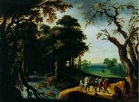 voyageur attaqué par des brigands by jacob van geel