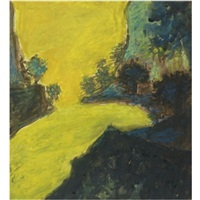 untitled (yellow landscape) by rabindranath tagore