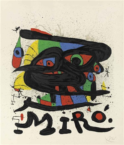 plates from cartones 2 works and miro sculptures 3 works by joan miró