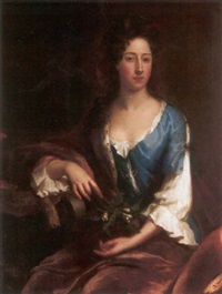 portrait of catherine, second dutchess of rutland by john van der vaart