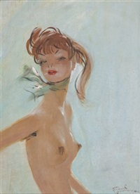 portrait de claude by jean-gabriel domergue