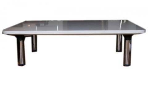 contemporary composite marble coffee table